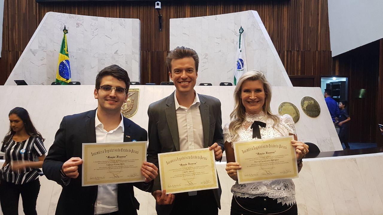 Membros da Curitiba Angels recebem menção honrosa na ALEP-PR